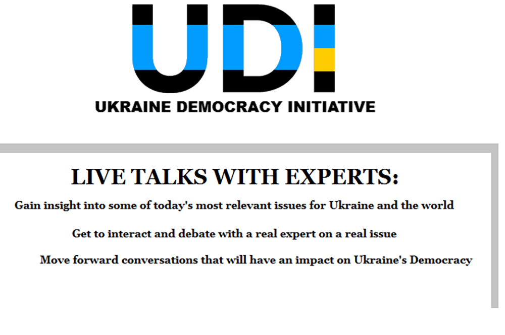 "NEWS | UDI LAUNCHES ITS FIRST INTERACTIVE ONLINE PROJECT: ""Live Talks With Experts"""