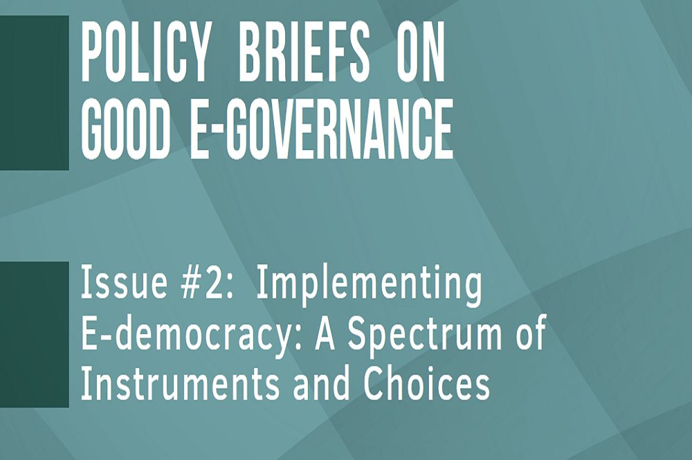 REPORT | POLICY BRIEFS ON GOOD E-GOVERNANCE