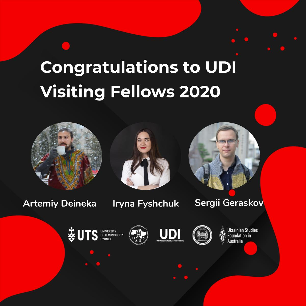 NEWS | CONGRATULATIONS TO UDI VISITING FELLOWS 2020